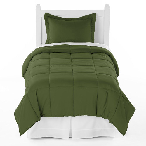 Ivy Union Premium Down Alternative Twin XL Comforter Set, Cypress Army Green