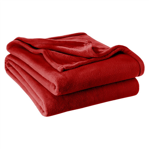 Microplush Super Soft Blanket Twin / Twin XL Extra Long - Pepper Red