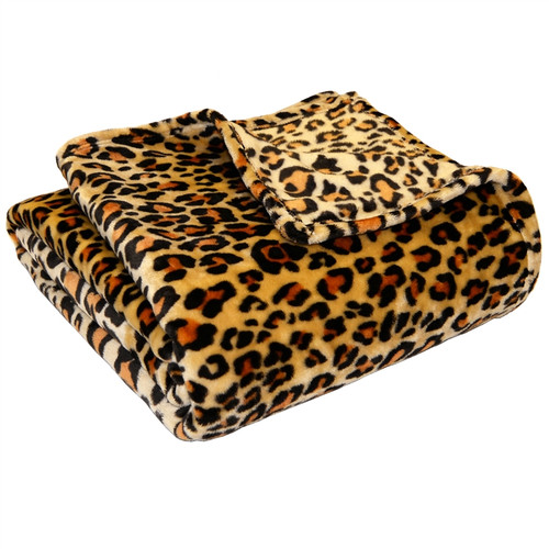 Microplush Super Soft Blanket Twin / Twin XL Extra Long -  Leopard