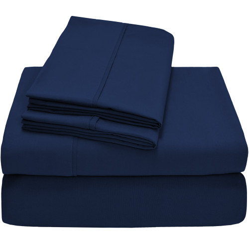 Twin XL Sheets - Microfiber - Dark Blue