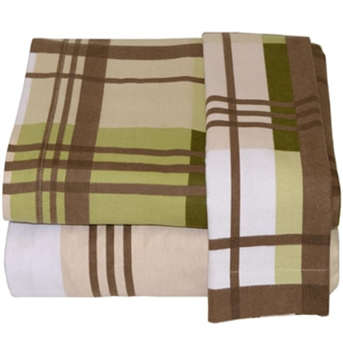Twin XL Sheets - Flannel - Woods Plaid