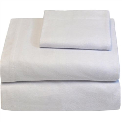 Twin XL Sheets - Flannel - White