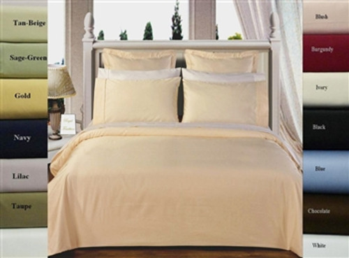 Ultra-Soft Egyptian Cotton 300 TC Solid Color Twin XL Duvet Cover