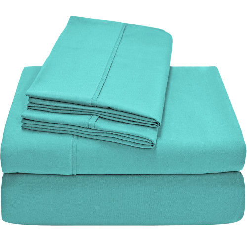 Twin XL Sheets - Microfiber - Turquoise