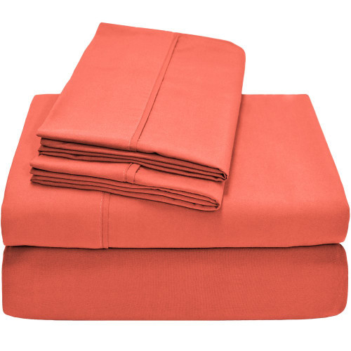 Twin XL Sheets - Microfiber - Coral