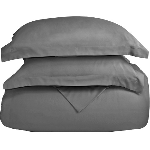 Ultra-Soft Microfiber Twin XL Duvet Cover Set - Grey