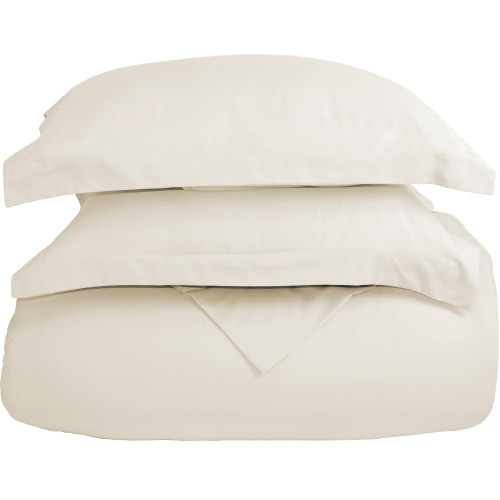 Ultra-Soft Microfiber Twin XL Duvet Cover Set - Ivory
