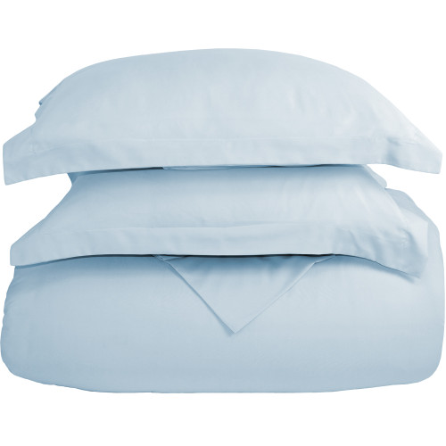 Ultra-Soft Microfiber Twin XL Duvet Cover Set - Light Blue