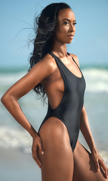 High Cut Low Cut One Piece Swimsuit - Tall/ Long Torso
