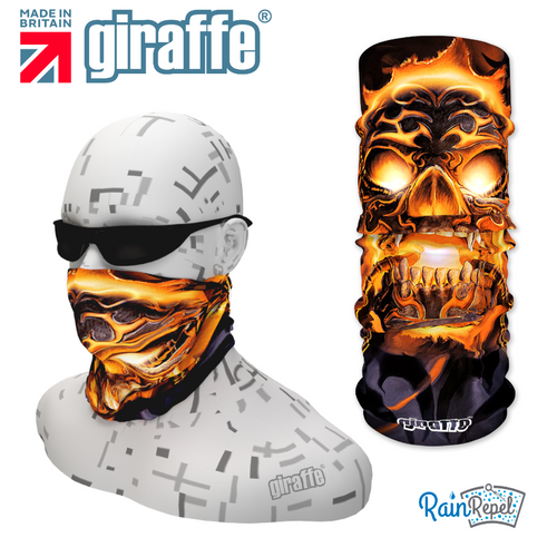 G289 Hells Gate Guard Flame Skull Tube Bandana