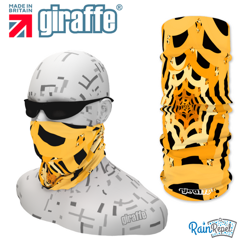 G297 Spiders Web Gold & Black Tube Bandana