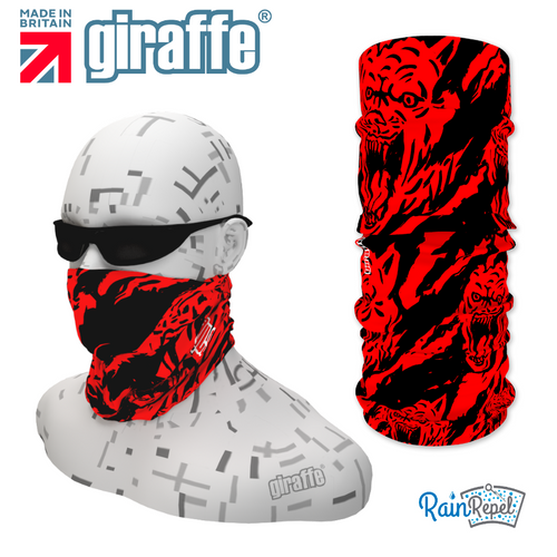 G321 Wolf Scratch Blood Red BlackTube Bandana