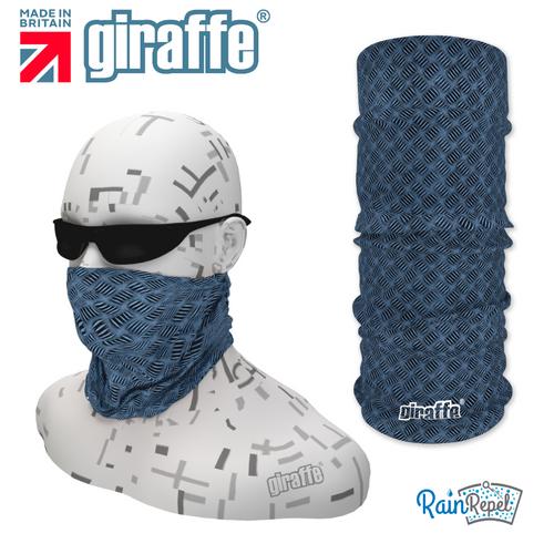 G375 Blue Checker Plate Style Tube Bandana