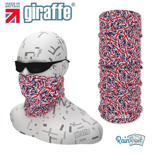 G387 Union Jack Flag Montage Repeat Pattern Tube Bandana