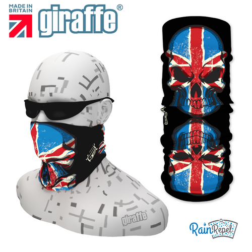 G395 Union Jack Flag Skulls Reflection Tube Bandana