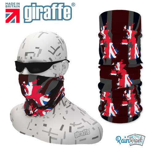 G407 UK British Flag Red White Blue Black Tube  Bandana