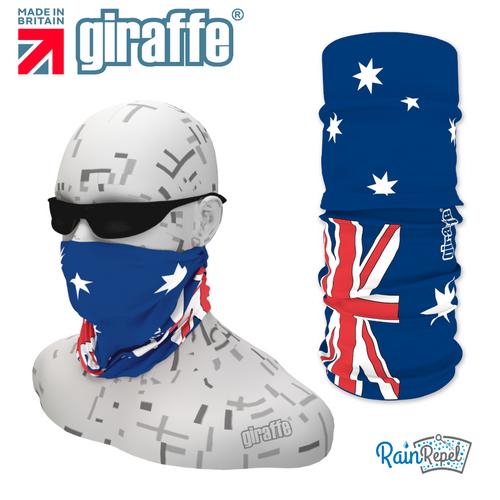 G409 Australian Oz Flag Red White Blue Tube Bandana