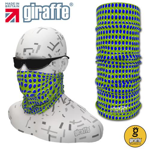 G437 Spotty Optical Illusion Green Blue Tube  Bandana
