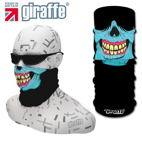 G448 Blue Skull  Face Mask Black Tube  Bandana