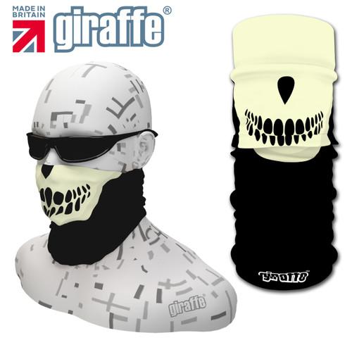 G449 Hanibal Lector Face Mask Black Cream Tube  Bandana
