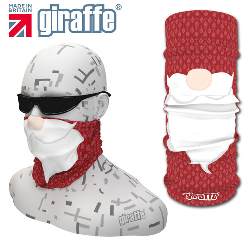 G457 Santa Xmas Face Mask Black Tube  Bandana