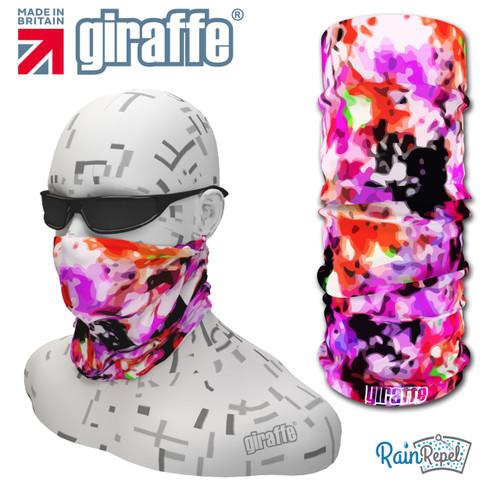 G468 Floral Pink Splash Mix  Multi-functional Tube Bandana