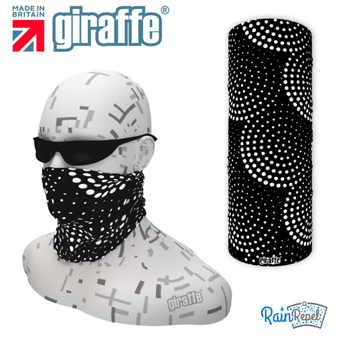 G553 Spotty Black Circles Multi-functional Tube Bandana