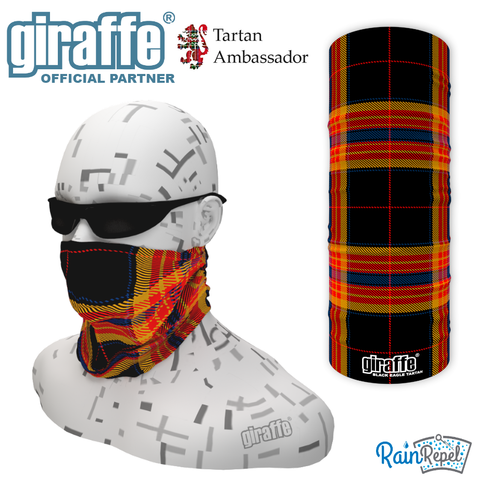 Black Eagle Tartan  Multi-Functional Tube Bandana