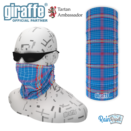 Blue Christmas Tartan  Multi-Functional Tube Bandana