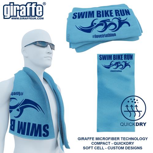 Swim Bike Run GT-003 Sports Microfibre Towel