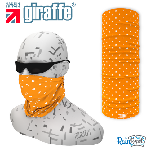 Orange Letter Mix PR Tube Bandana