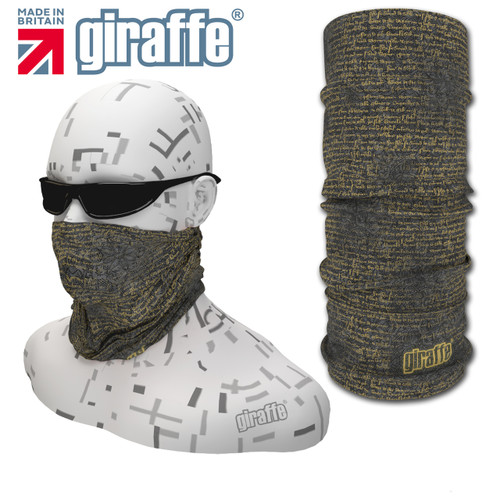 G-423 Ancient text  Face Mask Black Tube  Bandana