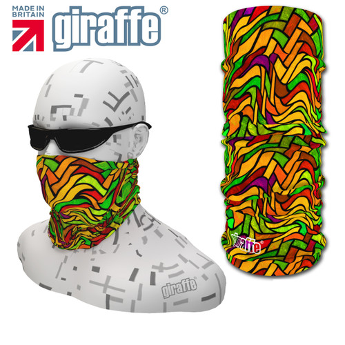 G-430 Stained Glass Face Mask Black Tube  Bandana