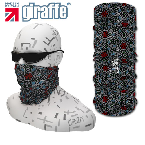 G-431 Vintage Glass Face Mask Black Tube  Bandana