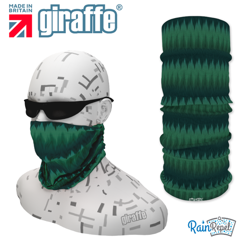 G-488 Green Pattern Face Mask Black Tube  Bandana
