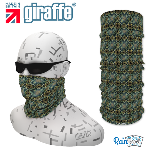 G-490  Pattern Face Mask Black Tube  Bandana