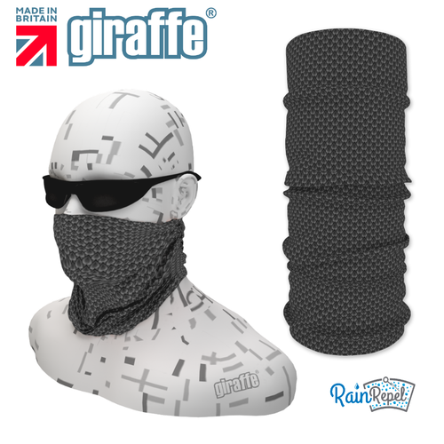 G-492 Grey Pattern Face Mask Black Tube  Bandana