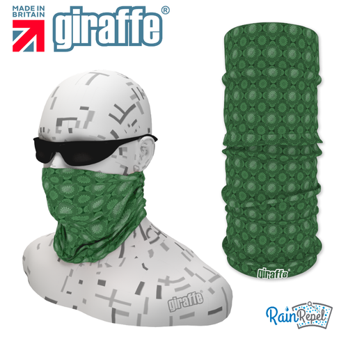 G-496 Green  Pattern Face Mask Black Tube  Bandana