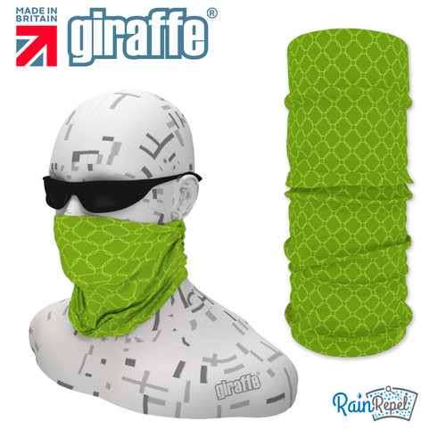 G-498 Green  Pattern Face Mask Black Tube  Bandana