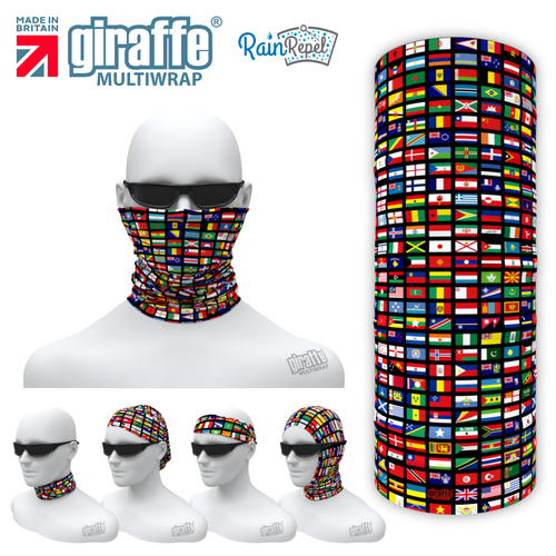 G-593 World Flags  Face Mask Tube  Bandana