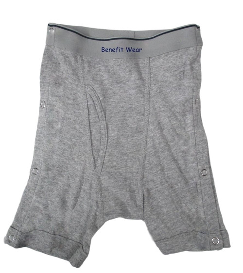 Boys Boxer Briefs with Side Snap Closures