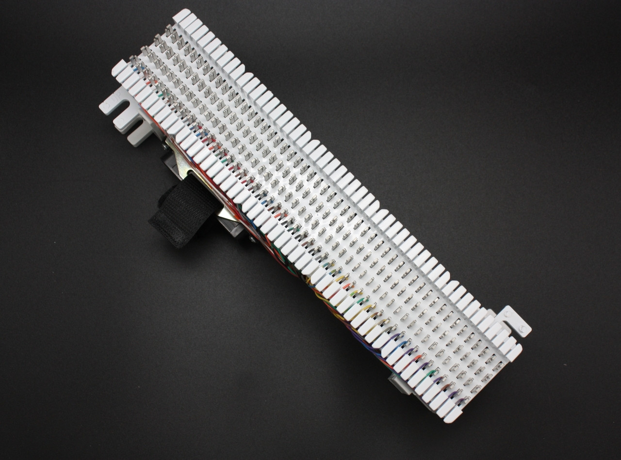 66 Split Block, 50 pair, with 50 pin Male Telco Connector on One Side