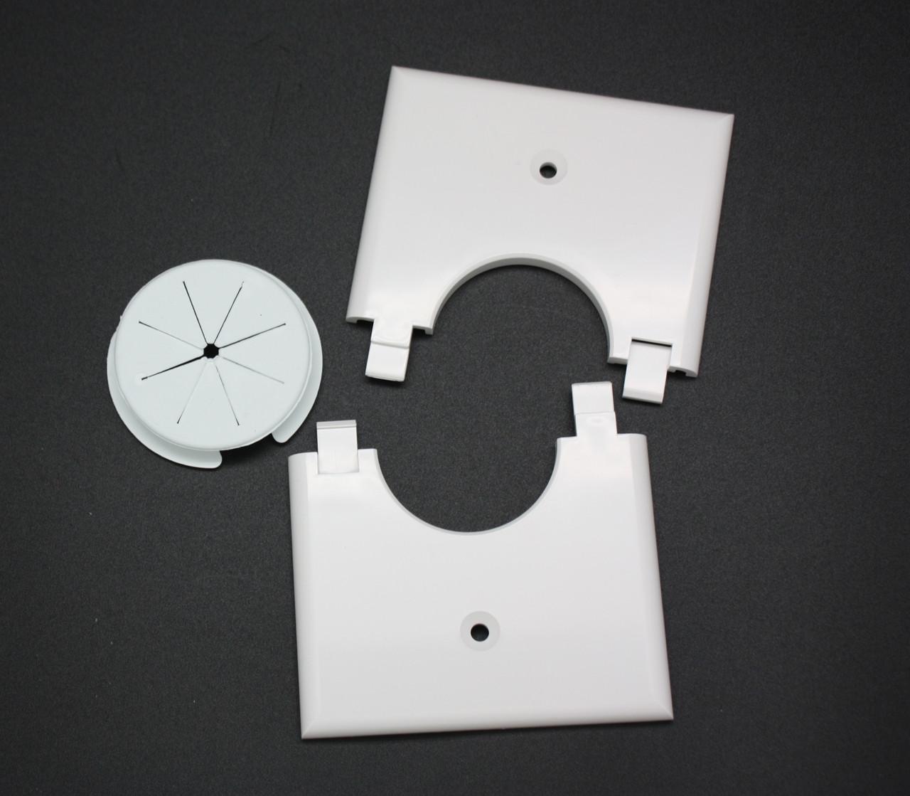 1GSPWH-GR10 Single Gang Bulk Wire Split Plate with Grommet