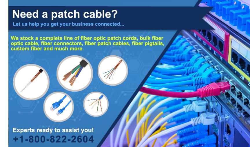 Fiber, Category 6, Categry 5E Patch Cords