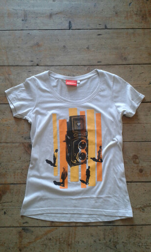 Analogue Fascination T-Shirt with scoop neck