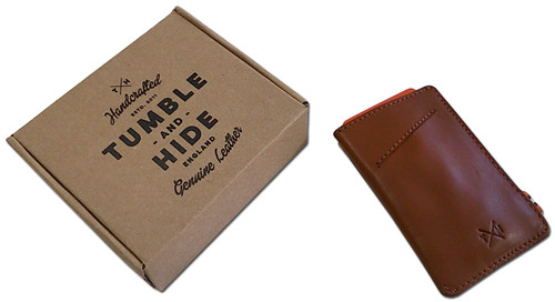 tumble and hide credit card holder and packaging