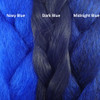 Color comparison from left to right: Navy Blue, Dark Blue, Midnight Blue