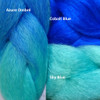 Color comparison: Azure Ombré on the left, and Cobalt Blue and Sky Blue on the right