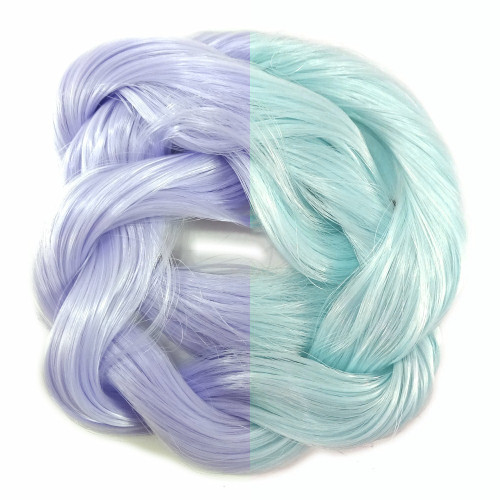 Lilac/Pale Blue thermal color change hair extensions