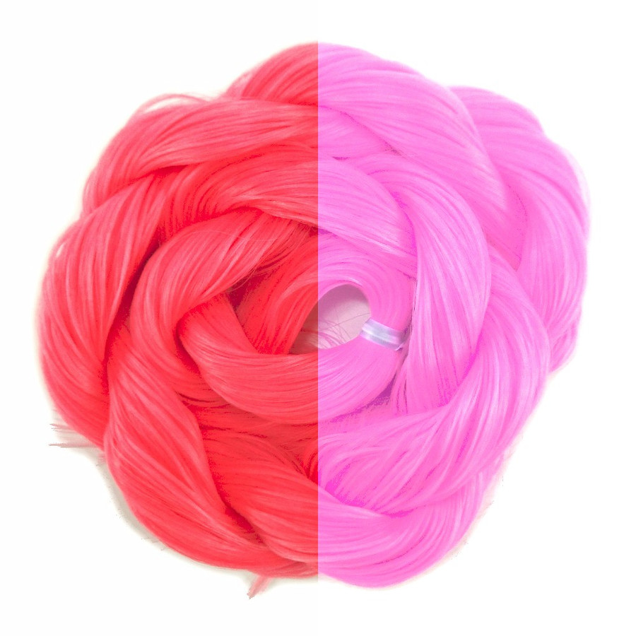 Raspberry thermal color change hair extensions